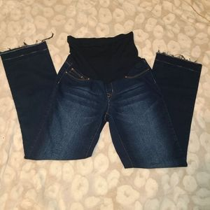 Small maternity blue jeans
